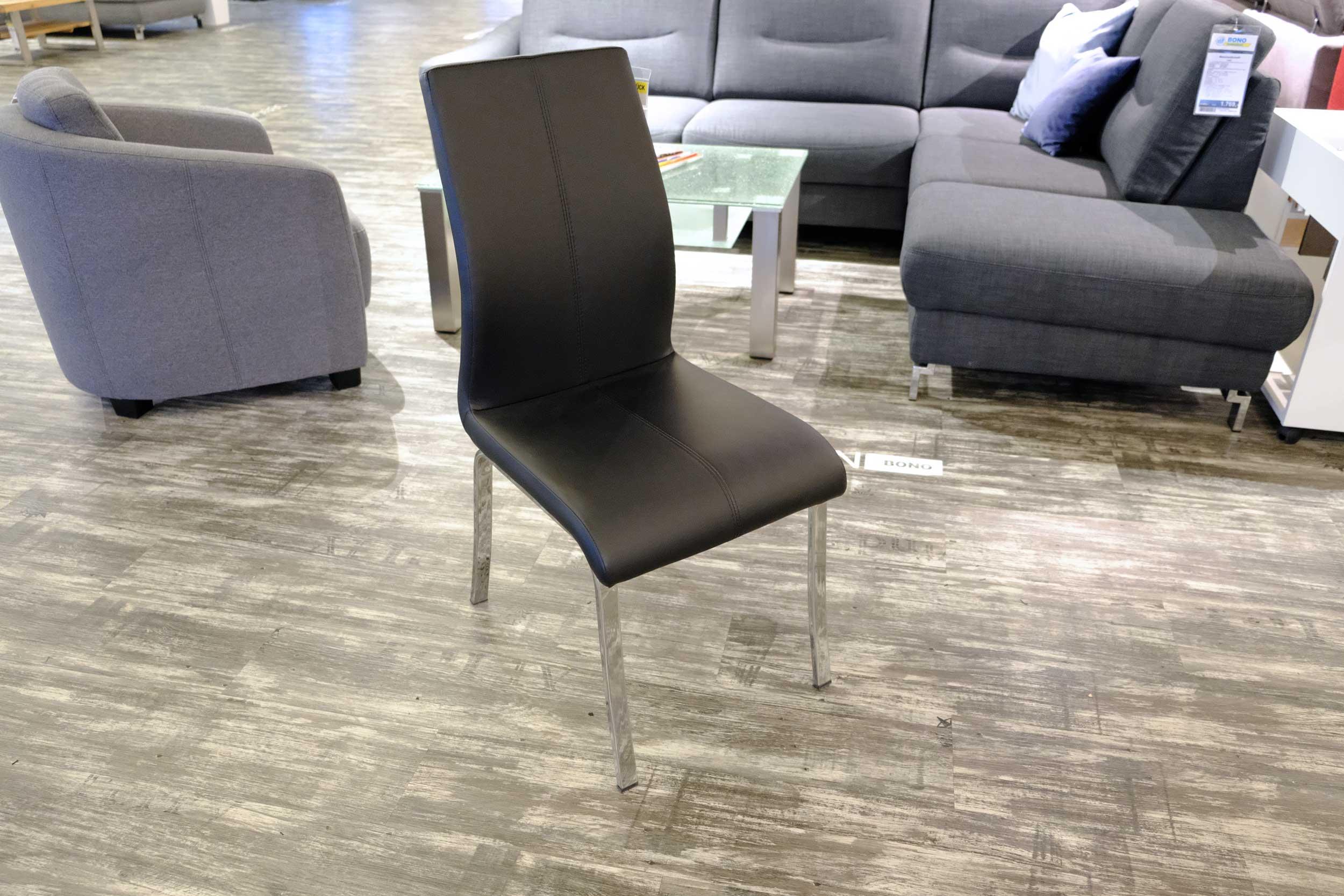 4-Fuß-Stuhl Schwarz CASADA