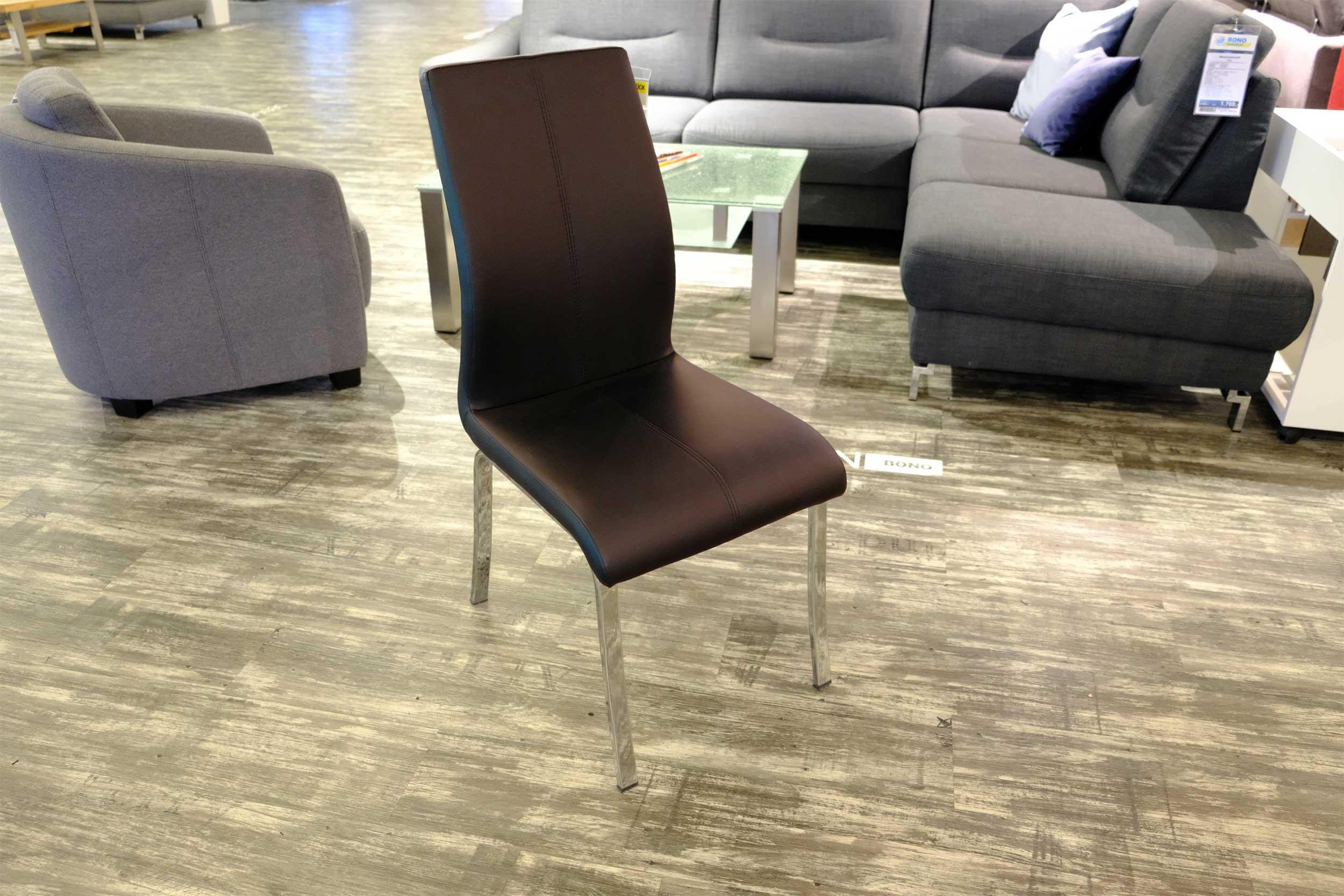 4-Fuß-Stuhl Braun CASADA