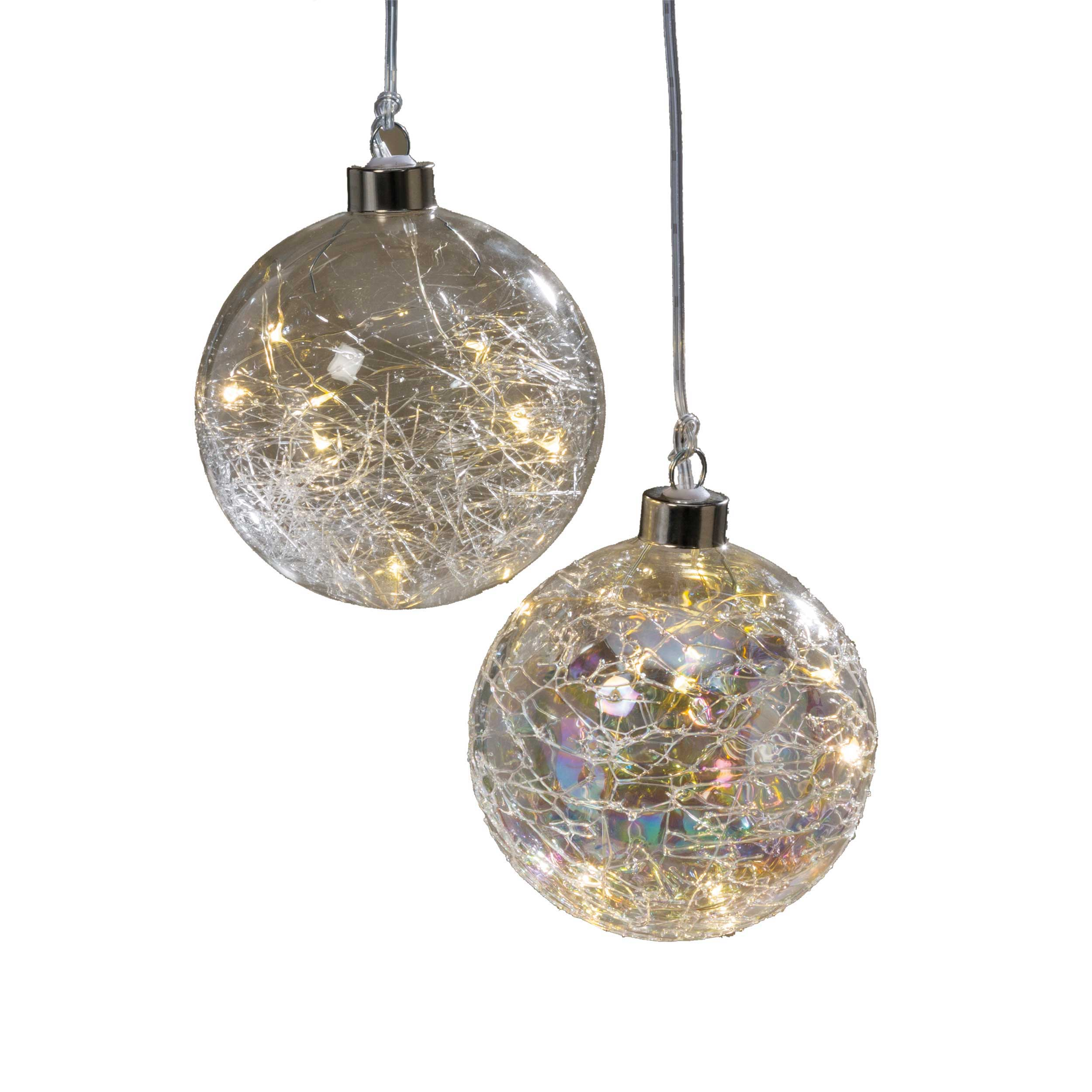 LED Weihnachtskugel 10cm JILIA
