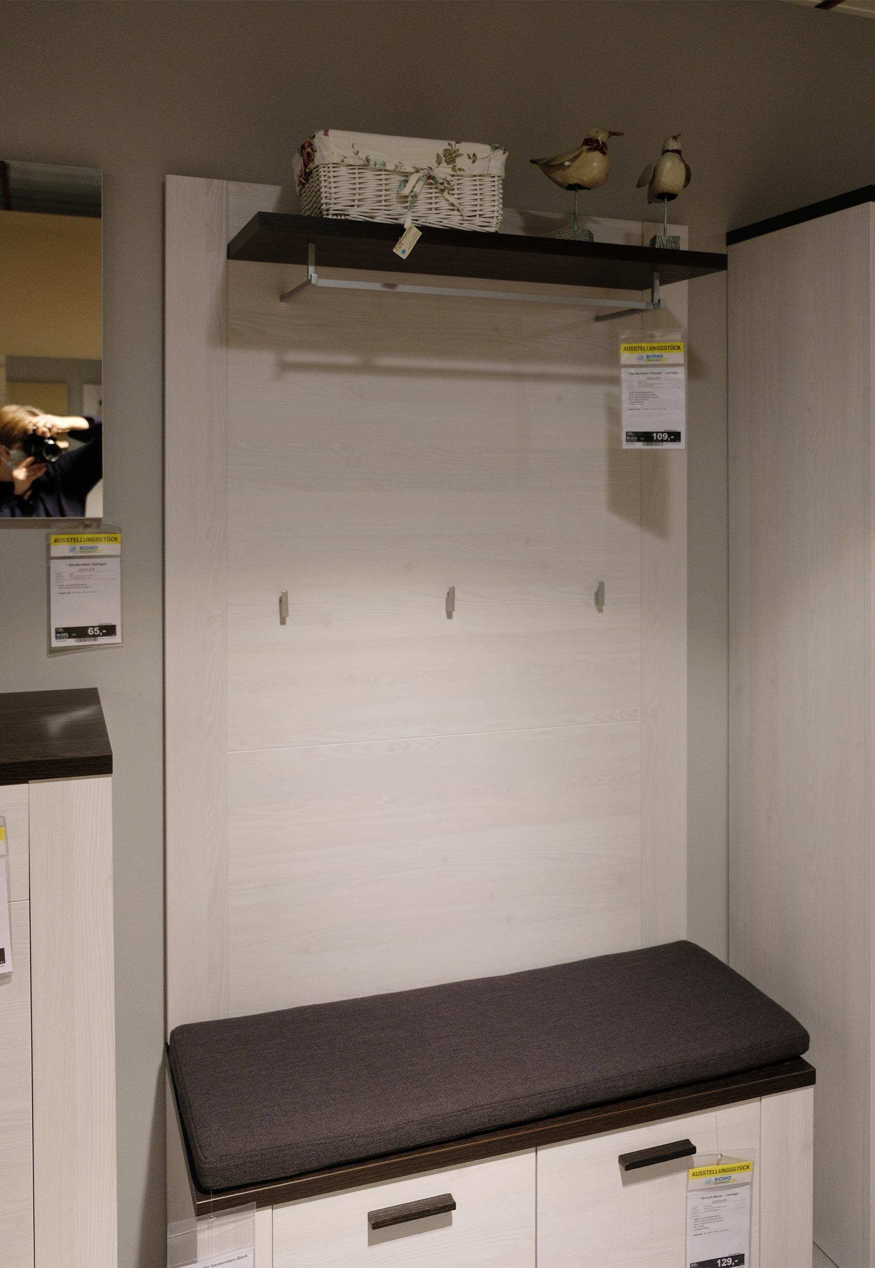 Garderoben-Paneel  - zerlegt - DENVER