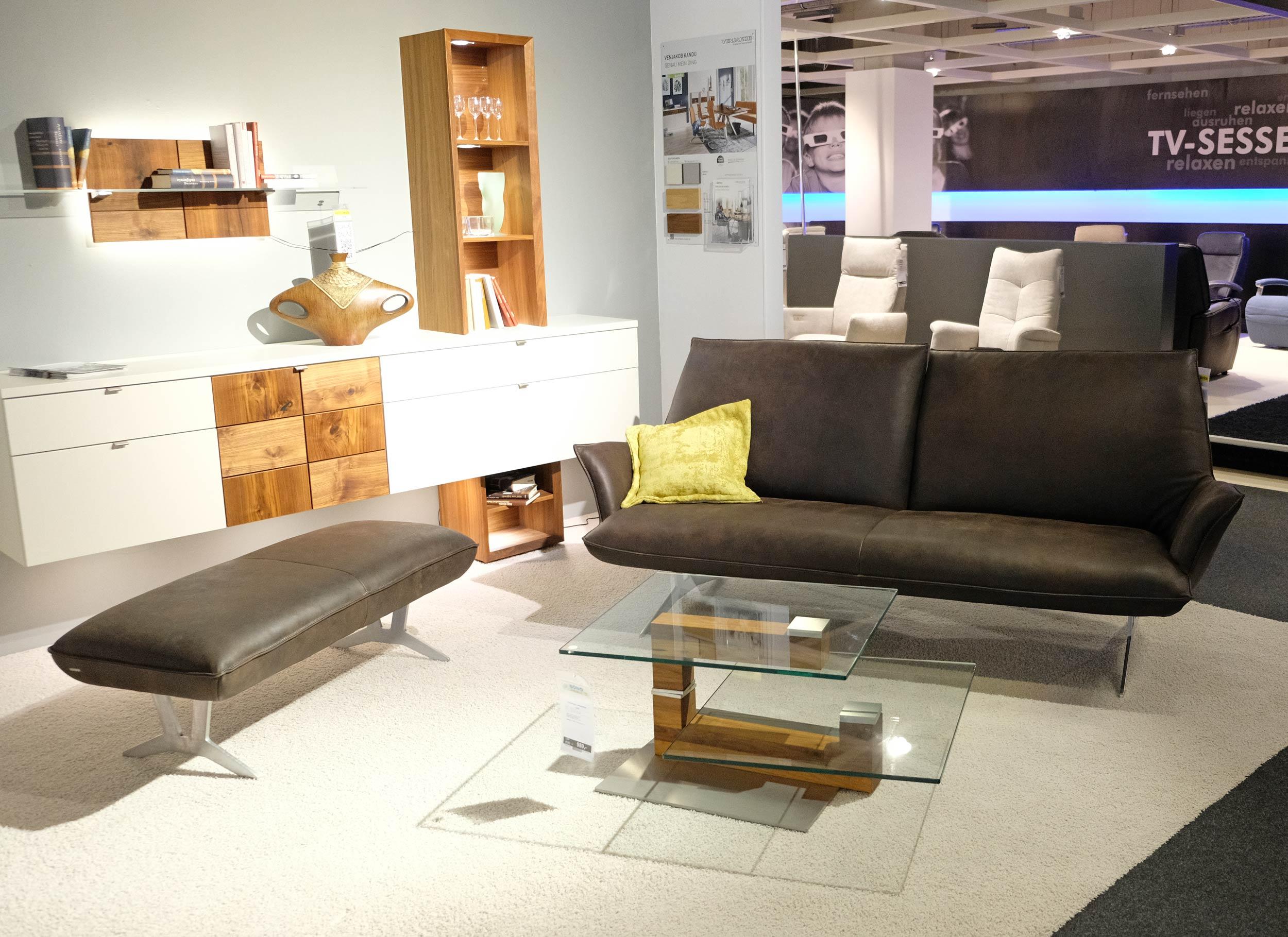 Leder-Sofa 3 sitzig FENJA