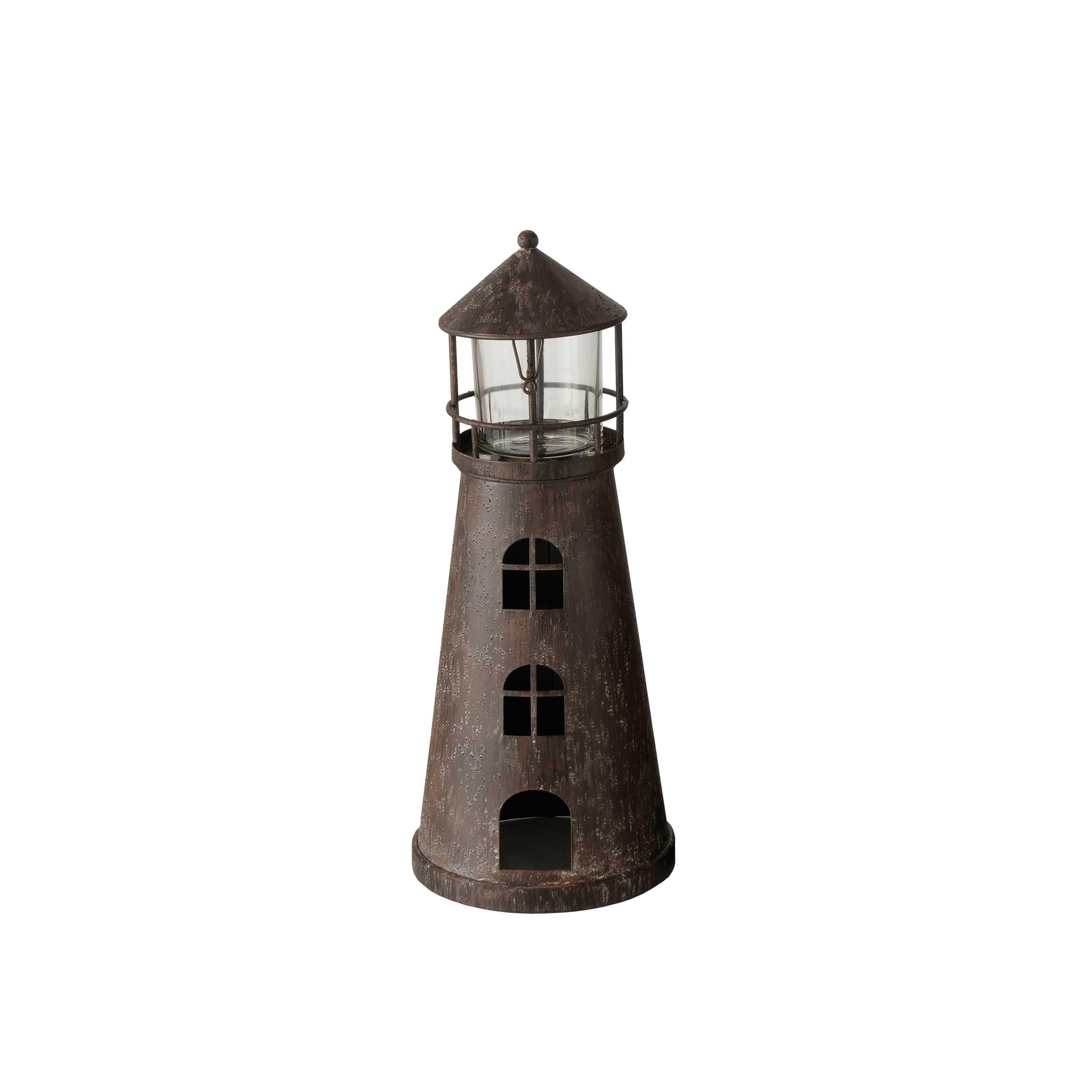 Windlicht Leuchtturm 37cm, 1 aus 2 NORANA