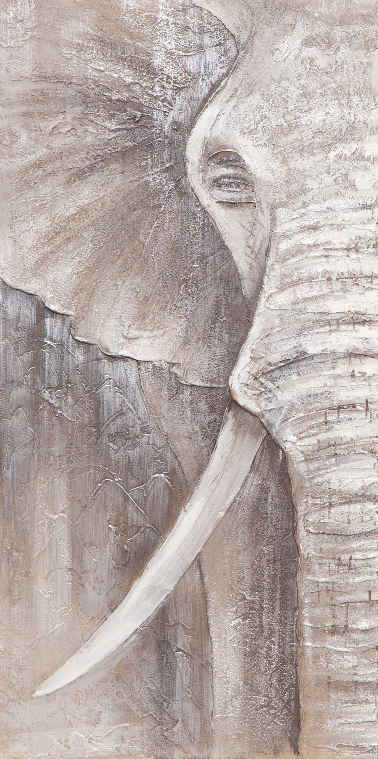 Leinwandbild 40x80cm ORIGINAL NESTO, ELEPHANT