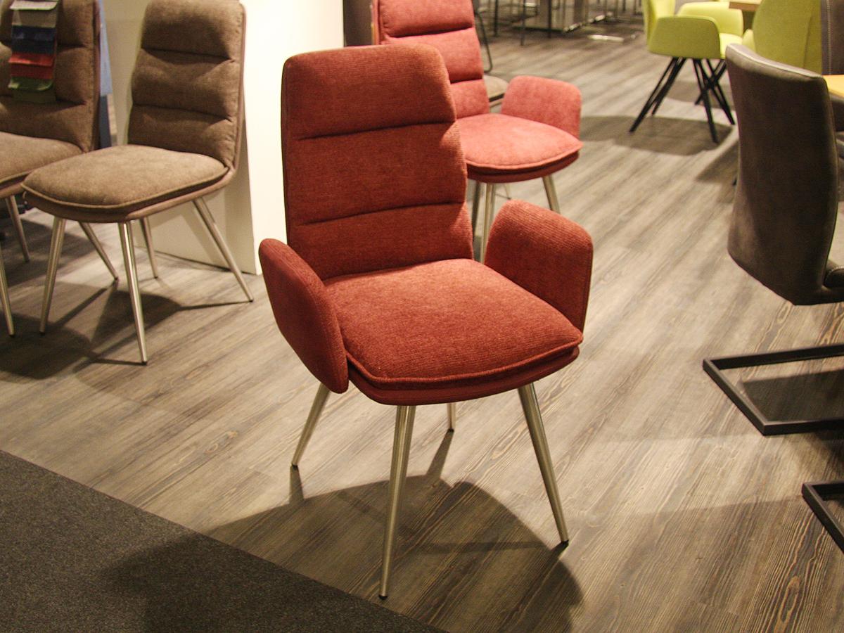 4-Fuß-Armlehnstuhl Rot ANNI