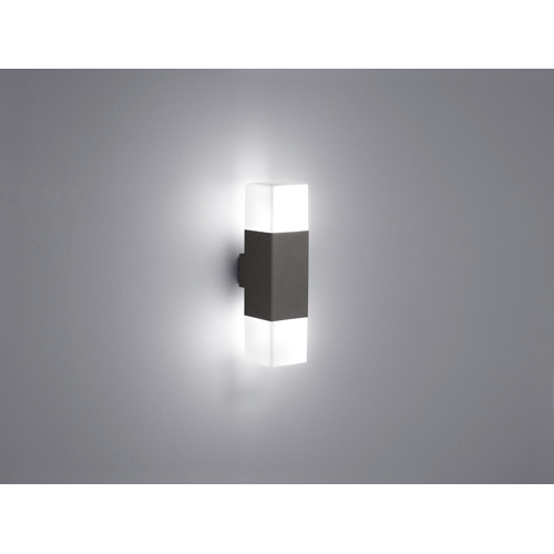 LED Aussen-Wandleuchte 2flg. HUDSON